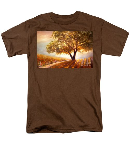Men's T-Shirt  (Regular Fit) featuring the painting Paso Robles Golden Oak by Michael Rock