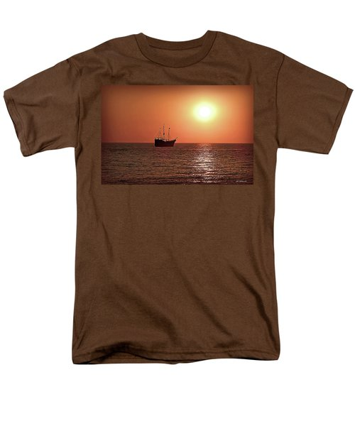 Men's T-Shirt  (Regular Fit) featuring the photograph Passing By In Calm Waters by Joan  Minchak