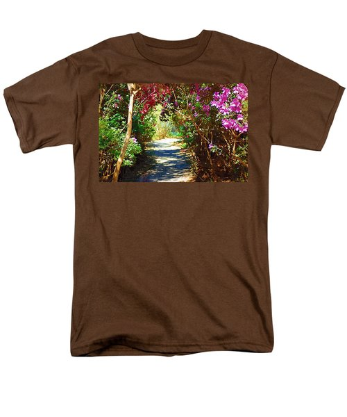 Men's T-Shirt  (Regular Fit) featuring the digital art Path To The Gardens by Donna Bentley