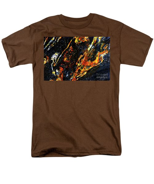 Men's T-Shirt  (Regular Fit) featuring the photograph Patterns In Stone - 188 by Paul W Faust - Impressions of Light
