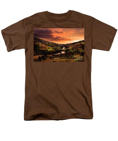Paute River II Men's T-Shirt  (Regular Fit) by Al Bourassa