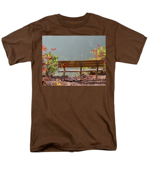 Men's T-Shirt  (Regular Fit) featuring the photograph Peaceful Bench by George Randy Bass