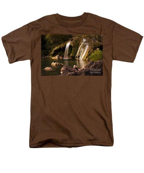 Peaceful Day At Turner Falls Men's T-Shirt  (Regular Fit) by Tamyra Ayles