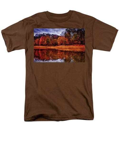 Men's T-Shirt  (Regular Fit) featuring the photograph Peak? Nope, Not Yet by Edward Kreis