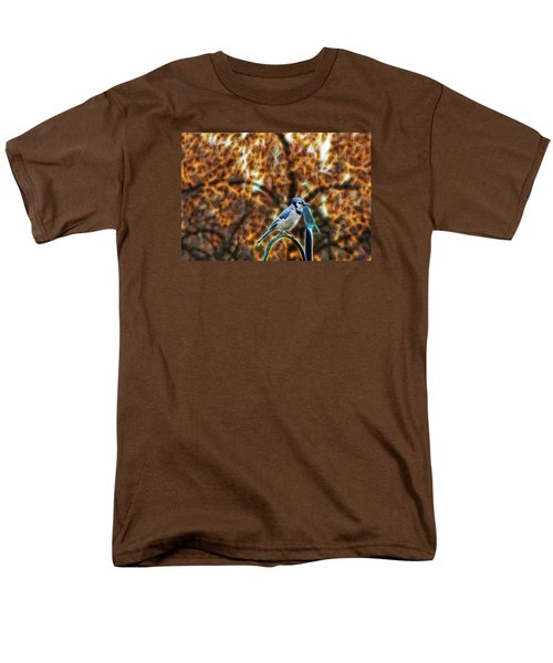 Men's T-Shirt  (Regular Fit) featuring the photograph Perched Jay by Cameron Wood
