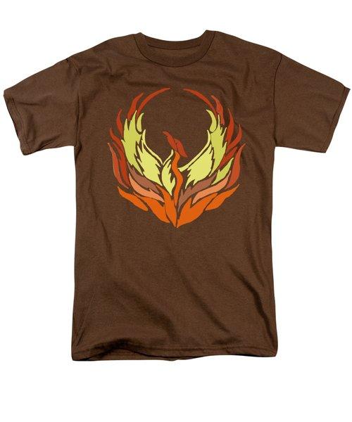 Phoenix Bird Men's T-Shirt  (Regular Fit) by Priscilla Wolfe