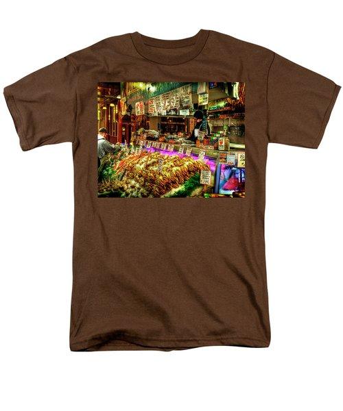 Pike Market Fresh Fish Men's T-Shirt  (Regular Fit) by Greg Sigrist
