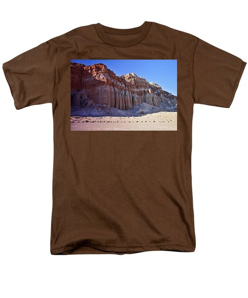 Pillars, Red Rock Canyon State Park Men's T-Shirt  (Regular Fit) by Michael Courtney