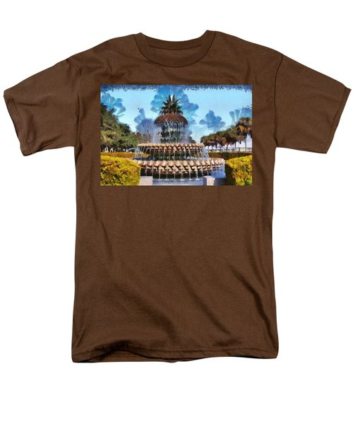 Men's T-Shirt  (Regular Fit) featuring the painting Pineapple Fountain by Lynne Jenkins