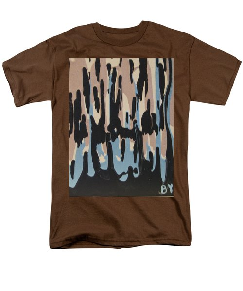 Pink Blue And Brown Drips Men's T-Shirt  (Regular Fit) by Barbara Yearty