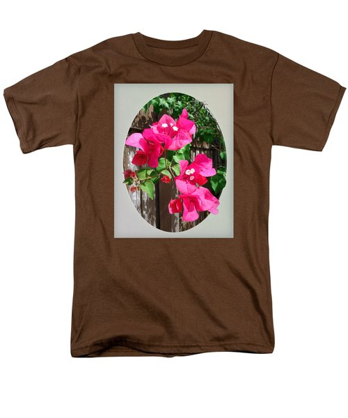 Men's T-Shirt  (Regular Fit) featuring the photograph Pink Bougainvillea by Ginny Schmidt