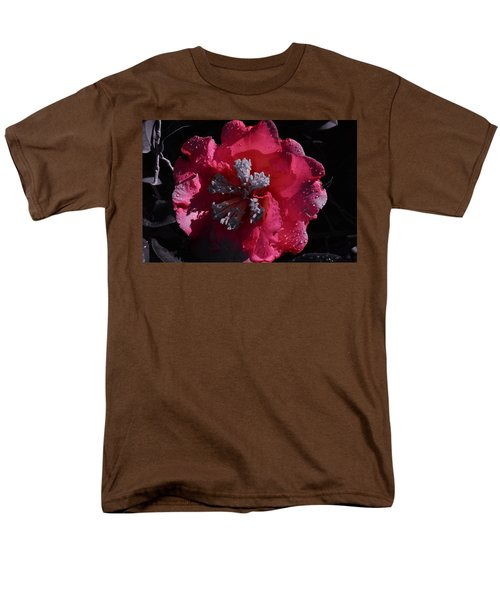 Pink Camillia And Selected Color Men's T-Shirt  (Regular Fit) by Warren Thompson