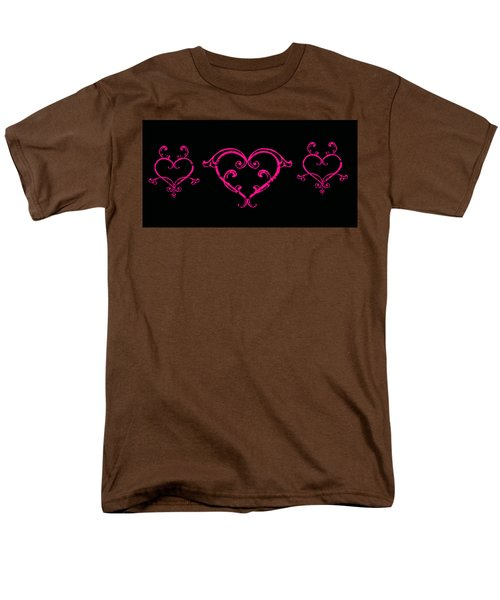 Pink Hearts  Men's T-Shirt  (Regular Fit) by Swank Photography