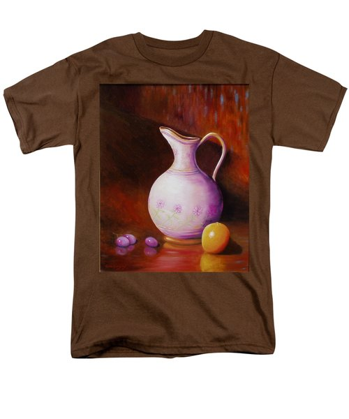 Men's T-Shirt  (Regular Fit) featuring the painting Pink Pitcher by Gene Gregory
