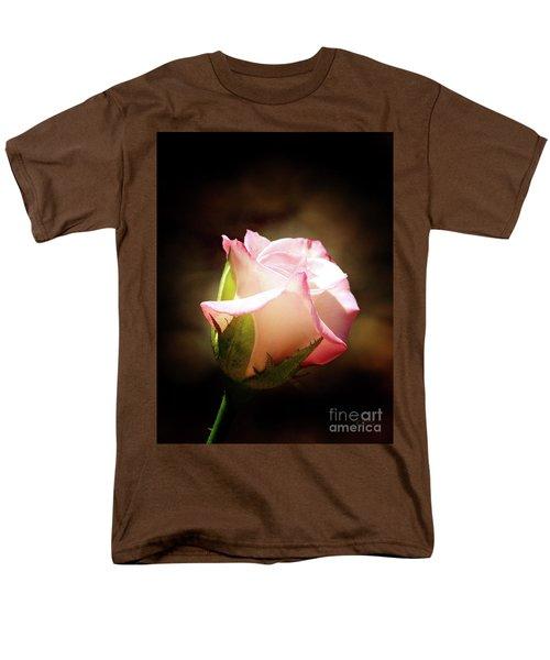 Pink Rose 2 Men's T-Shirt  (Regular Fit) by Inspirational Photo Creations Audrey Woods