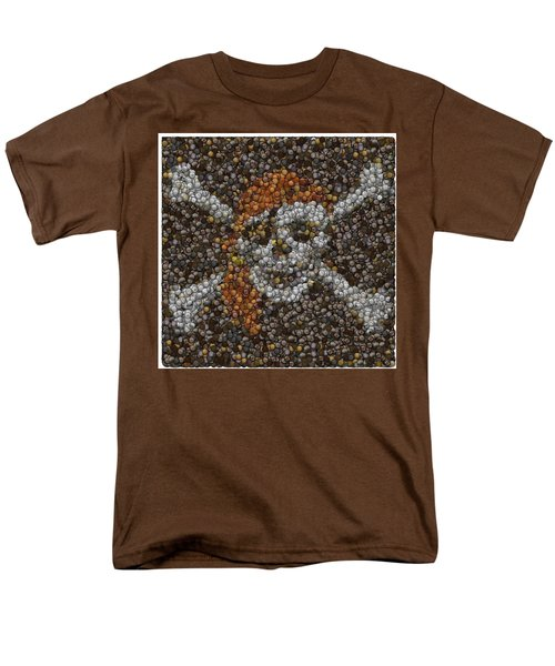 Men's T-Shirt  (Regular Fit) featuring the digital art Pirate Coins Mosaic by Paul Van Scott