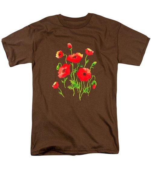 Playful Poppy Flowers Men's T-Shirt  (Regular Fit) by Irina Sztukowski