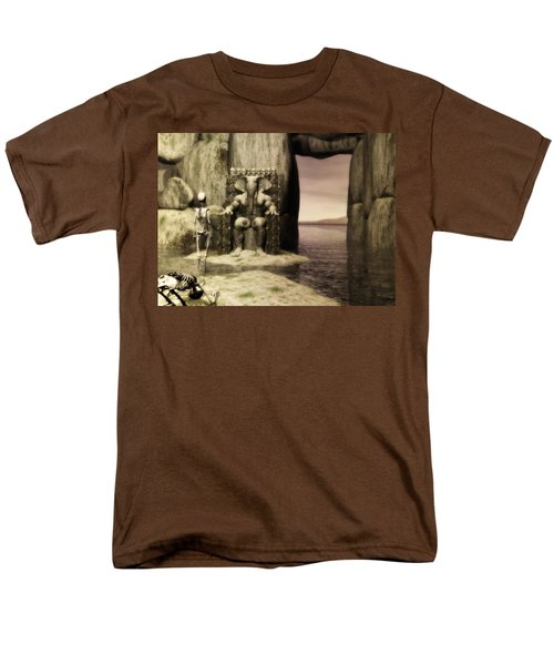 Men's T-Shirt  (Regular Fit) featuring the digital art Plea Of The Penitent To The Lord Of Perdition by John Alexander
