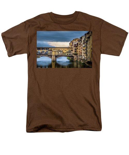 Ponte Vecchio E Gabbiani Men's T-Shirt  (Regular Fit) by Sonny Marcyan