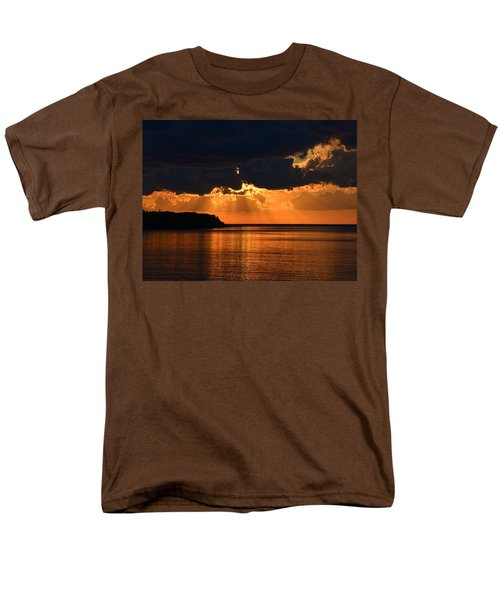 Porcupine Mountains Superior Sunset Men's T-Shirt  (Regular Fit) by Keith Stokes