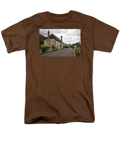 Men's T-Shirt  (Regular Fit) featuring the photograph Porlock Weir by Shirley Mitchell