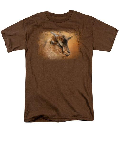 Portrait Of A Nubian Dwarf Goat Men's T-Shirt  (Regular Fit)