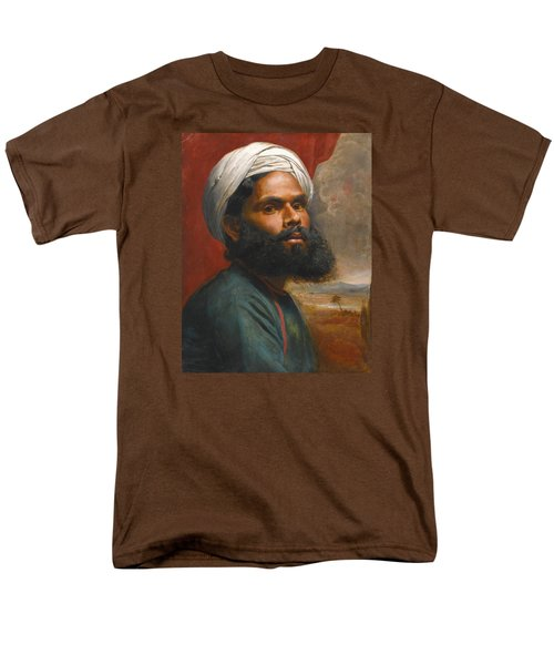 Men's T-Shirt  (Regular Fit) featuring the painting Portrait Of An Indian Sardar by Edwin Frederick Holt