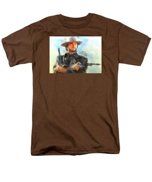 Men's T-Shirt  (Regular Fit) featuring the digital art Portrait Of Clint Eastwood by Charmaine Zoe