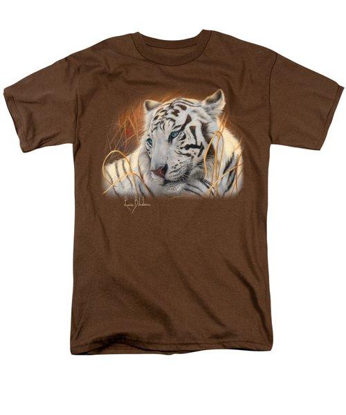 Portrait White Tiger 1 Men's T-Shirt  (Regular Fit) by Lucie Bilodeau