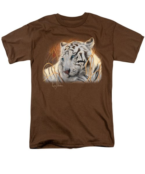 Portrait White Tiger 1 Men's T-Shirt  (Regular Fit)