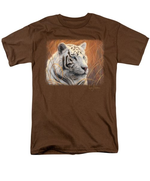 Portrait White Tiger 2 Men's T-Shirt  (Regular Fit) by Lucie Bilodeau