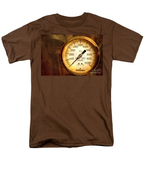 Men's T-Shirt  (Regular Fit) featuring the photograph Pressure Gauge by Charuhas Images