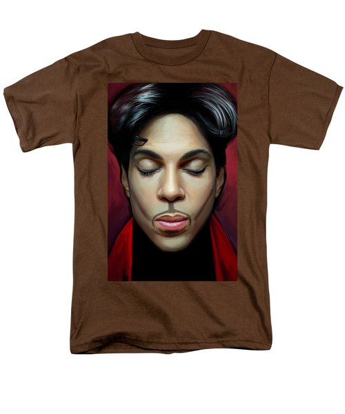 Men's T-Shirt  (Regular Fit) featuring the painting Prince Artwork 2 by Sheraz A