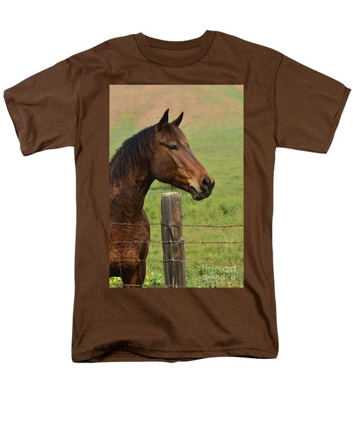 Men's T-Shirt  (Regular Fit) featuring the photograph Profile Of A Bay by Debby Pueschel
