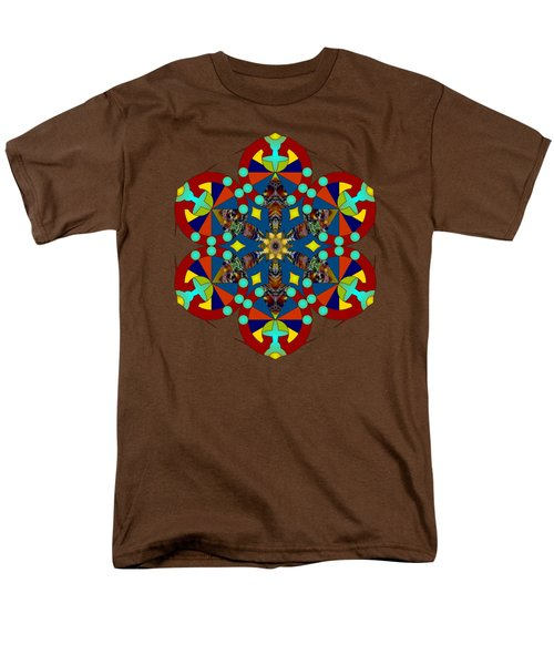 Psychedelic Mandala 007 A Men's T-Shirt  (Regular Fit) by Larry Capra