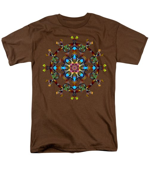 Psychedelic Mandala 010 A Men's T-Shirt  (Regular Fit) by Larry Capra