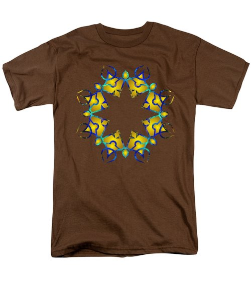 Psychedelic Mandala 011 A Men's T-Shirt  (Regular Fit) by Larry Capra