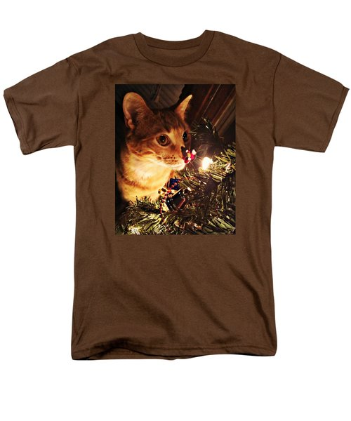 Pumpkin's First Christmas Tree Men's T-Shirt  (Regular Fit) by Kathy M Krause