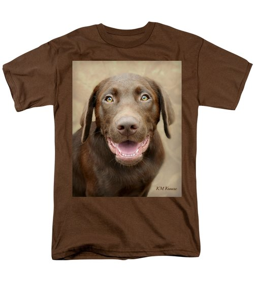 Puppy Power Men's T-Shirt  (Regular Fit) by Kathy M Krause