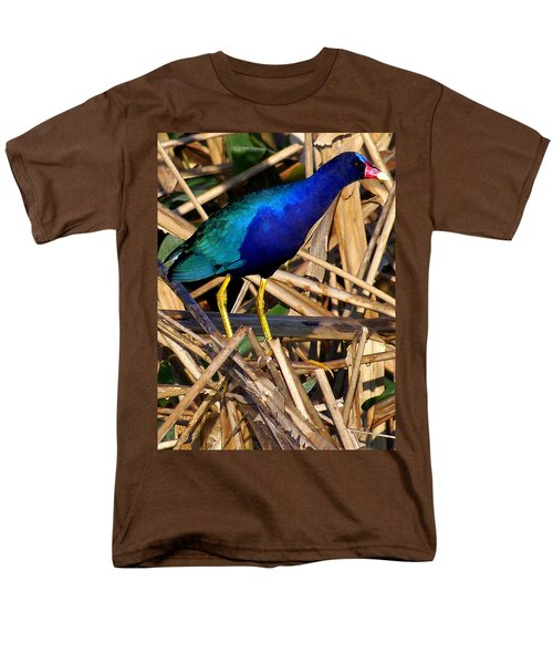 Purple Galinule 002 Men's T-Shirt  (Regular Fit) by Chris Mercer