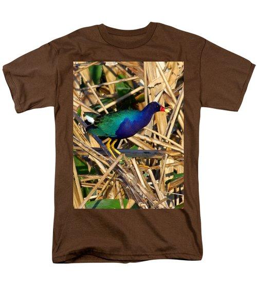 Men's T-Shirt  (Regular Fit) featuring the photograph Purple Galinule 003 by Chris Mercer