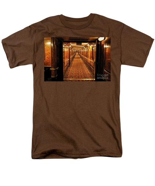 Men's T-Shirt  (Regular Fit) featuring the photograph Queen Mary Hallway by Mariola Bitner