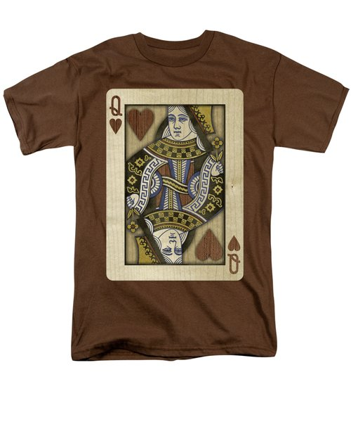 Queen Of Hearts In Wood Men's T-Shirt  (Regular Fit) by YoPedro