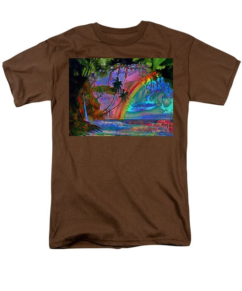 Rainboow Drenched In Layers Men's T-Shirt  (Regular Fit) by Catherine Lott