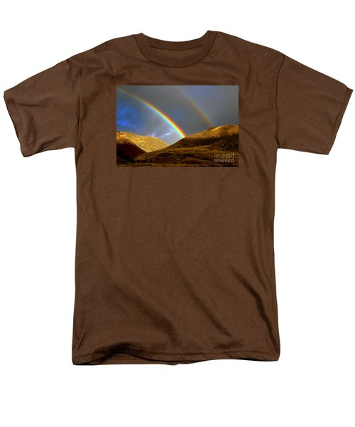 Men's T-Shirt  (Regular Fit) featuring the photograph Rainbow In Mountains by Irina Hays