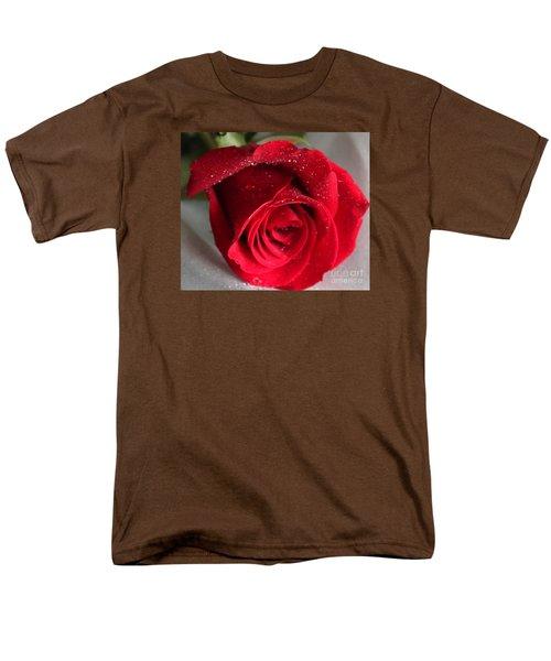 Raindrops On Roses Men's T-Shirt  (Regular Fit) by Rita Brown