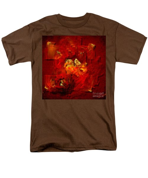 Men's T-Shirt  (Regular Fit) featuring the painting Red And Gold by Alexa Szlavics