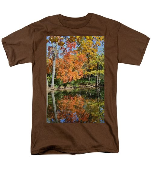 Red Cedar Banks Men's T-Shirt  (Regular Fit) by Joseph Yarbrough