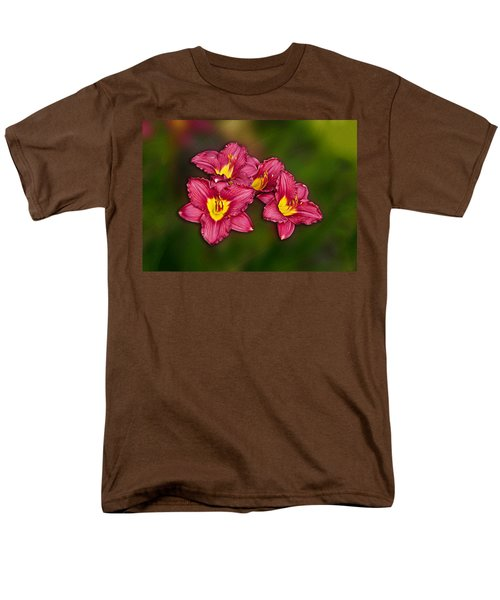 Men's T-Shirt  (Regular Fit) featuring the photograph Red Columbine Hybrid by John Haldane