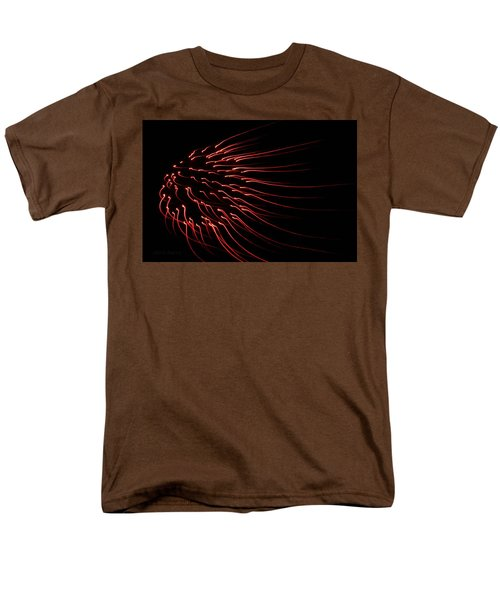 Men's T-Shirt  (Regular Fit) featuring the photograph Red Firework  by Chris Berry